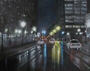 A Long Days Night, Oil, 31x39, SOLD