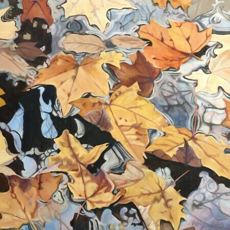 """A Leaf's Journey"", Oil, 20x20"