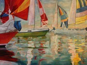 Colours of the Lake, Oil, 30x40 - SOLD