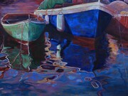 Dockside Reflections, Oil, 36 x 48 - SOLD