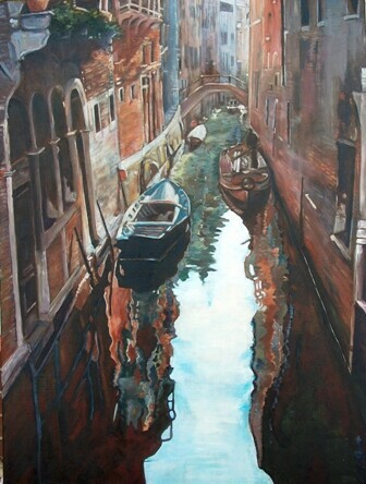Venice Canal, 30x40 - SOLD