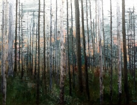 Forest,  Acrylic, 36x48, SOLD