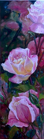 Kissed by a Rose, 12x36 - SOLD