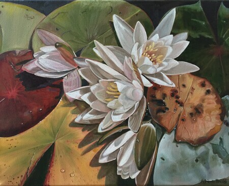 Lovely Lillies, 16x20, Oil, $550 with frame email arty.adri@live.com