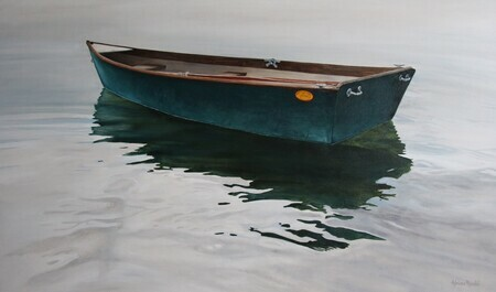 My Grandfather's Boat, Oil, 36x60, Comission