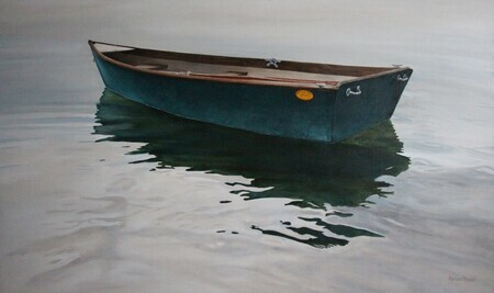 MY Grandfather's Boat, Oil, 36x60 Commission