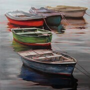 PEacefully Unoccupied, Oil, 28x28 - PEOPLES CHOICE AWARD WINNER - CNE TWAC SHOW SOLD