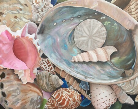 """Seashell Symphony"", Oil, 24x30, with frame $1,250 email arty.adri@live.com"