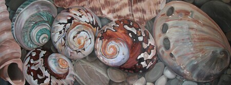 She Sell Sea Shells, 18x48, oil SOLD