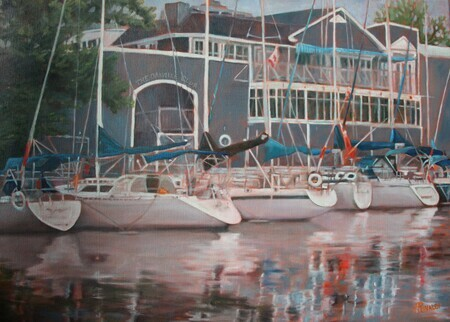 The Oakville Club, Oil, 22x30 SOLD COMISSION PRINTS AVAILABLE