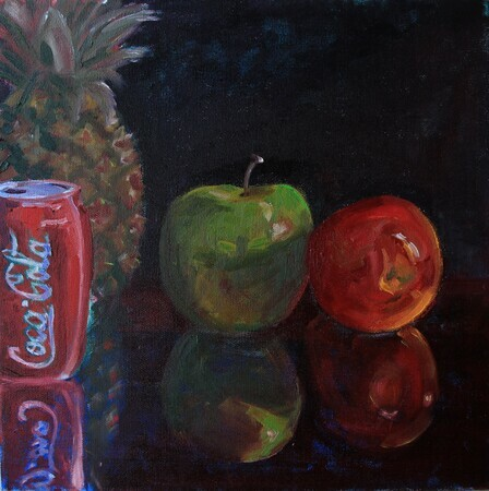 Things Go Better With Coca Cola  Oil, 12x12